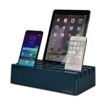 Kram Charge Pit Deep Petrol Blue - 6 poort USB Laadstation Donkerblauw