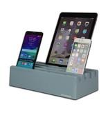 Kram Kram Charge Pit Sky Blue  - 6 poort USB Laadstation Blauw
