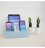 Kram Kram Charge Pit Sky Blue - 6 port USB Charging Station Blue