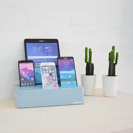 Kram Kram Charge Pit Sky Blue - USB-Ladestation mit 6 Anschlüssen (blau)