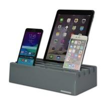 Kram Charge Pit Marble Grey - 6 poort USB Laadstation Grijs