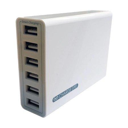 Kram Kram Charge Pit Marble Grey - USB-Ladestation mit 6 Anschlüssen Grau
