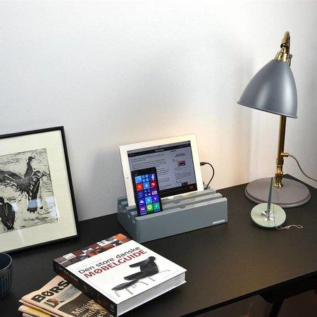 Kram Kram Charge Pit Marble Grey - 6 poort USB Laadstation Grijs
