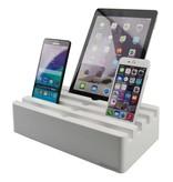 Kram Kram Charge Pit Arctic White - 6 poort USB Laadstation Wit