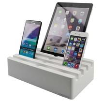 Kram Charge Pit Arctic White - 6 poort USB Laadstation Wit