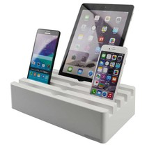 Kram Charge Pit Arctic White - 6 port USB Charging Station White
