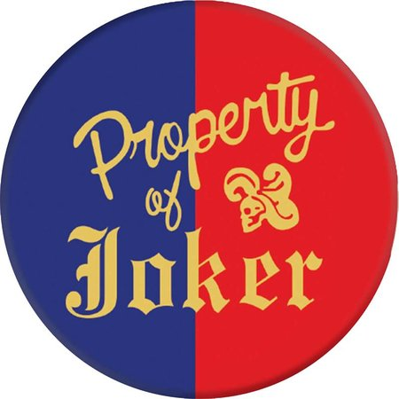 PopSockets PopSockets Expanding Stand/Grip DC Comics Harley Quinn Property of Joker Logo