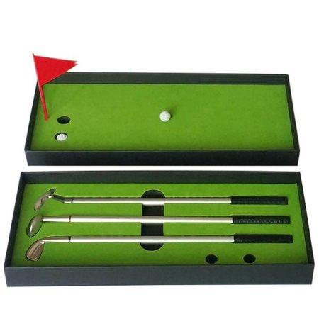 Geeek Mini Golf Spiel Desktop Putter Pen Set Golf Training