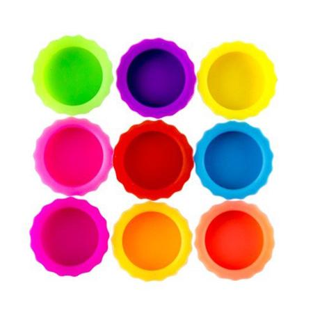 Geeek   Wiederverwendbare Flaschenverschlüsse - 9x - Silikon - Mehrfarbig