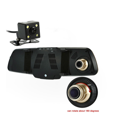 Geeek DashCam CarCam driving mirror HD 1080p Dual Cam