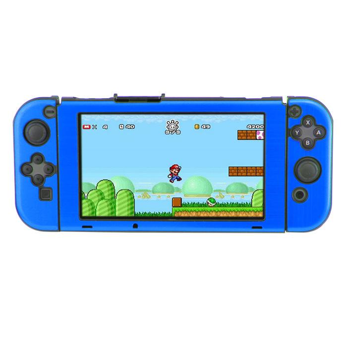 Aluminium Case Cover voor Switch Console en Joy Cons Donkerblauw