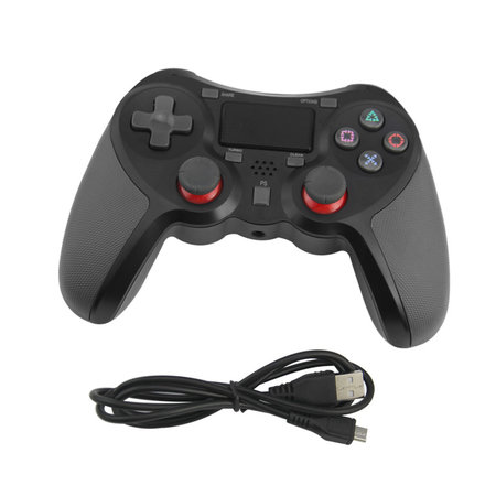 Geeek Draadloze Bluetooth Controller voor PS4 Zwart