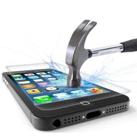 Geeek Schutzfolie aus gehärtetem 0,3 mm Panzerglas für iPhone 5S / SE (2-pack)