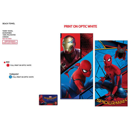 Marvel Spiderman Beach Towel Microfiber Towel - 70 x 140 cm - 240gr / m2