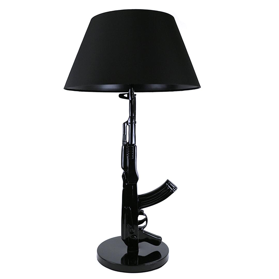 Tafellamp Vloerlamp AK-47 Gun Lamp Zwart