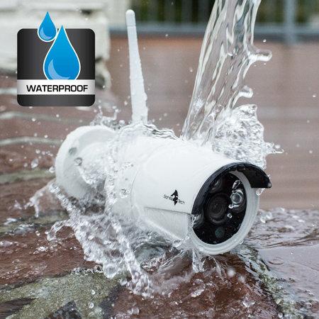 Geeek Wireless WiFi Full HD Beveiligingscamera set met 4 Cameras Outdoor incl. 1TB Harde Schijf