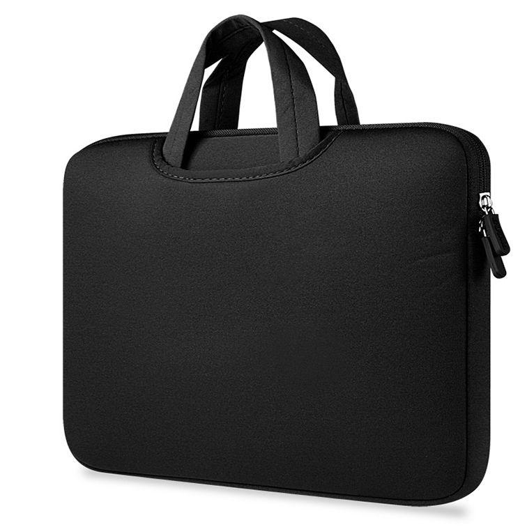 Deze stijlvolle zwarte airbag macbook 2 in 1 sleeve / tas voor de macbook air / pro 13 inch is perfecte cover ...