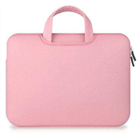 Airbag MacBook 2-in-1 sleeve / tas voor Macbook  Air / Pro 13 inch - Roze