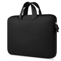 Airbag Universele 2-in-1 sleeve / tas voor laptops tot 14 inch - Zwart