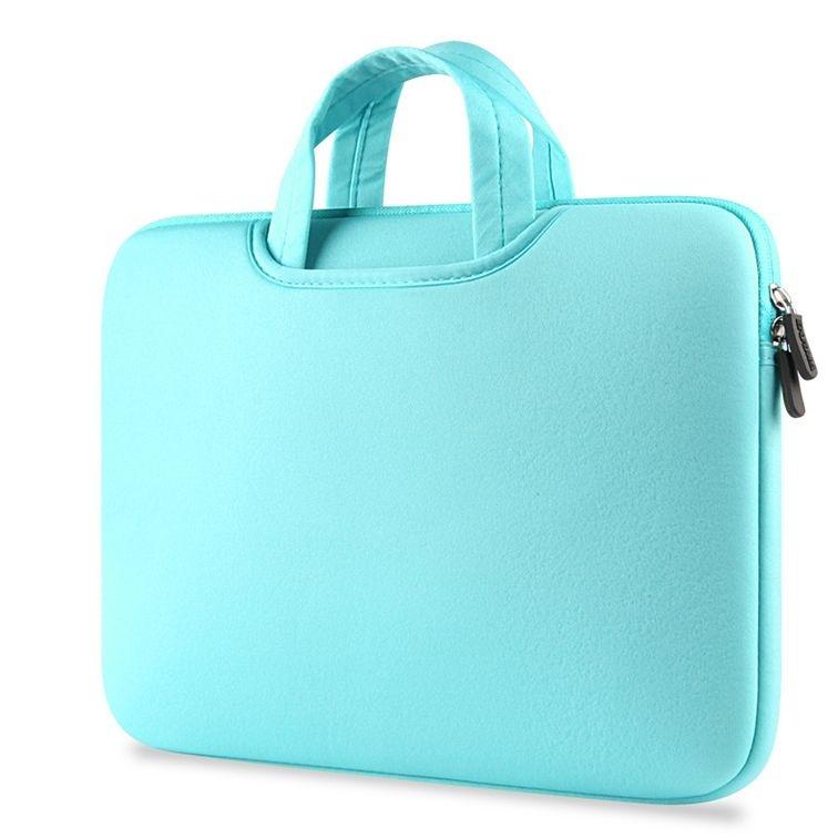 Deze stijlvolle mintgroene airbag macbook 2 in 1 sleeve / tas voor de macbook air / pro 13 inch is perfecte ...