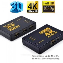 HDMI Switch 3 Port with Remote Control Ultra HD 4K 3D