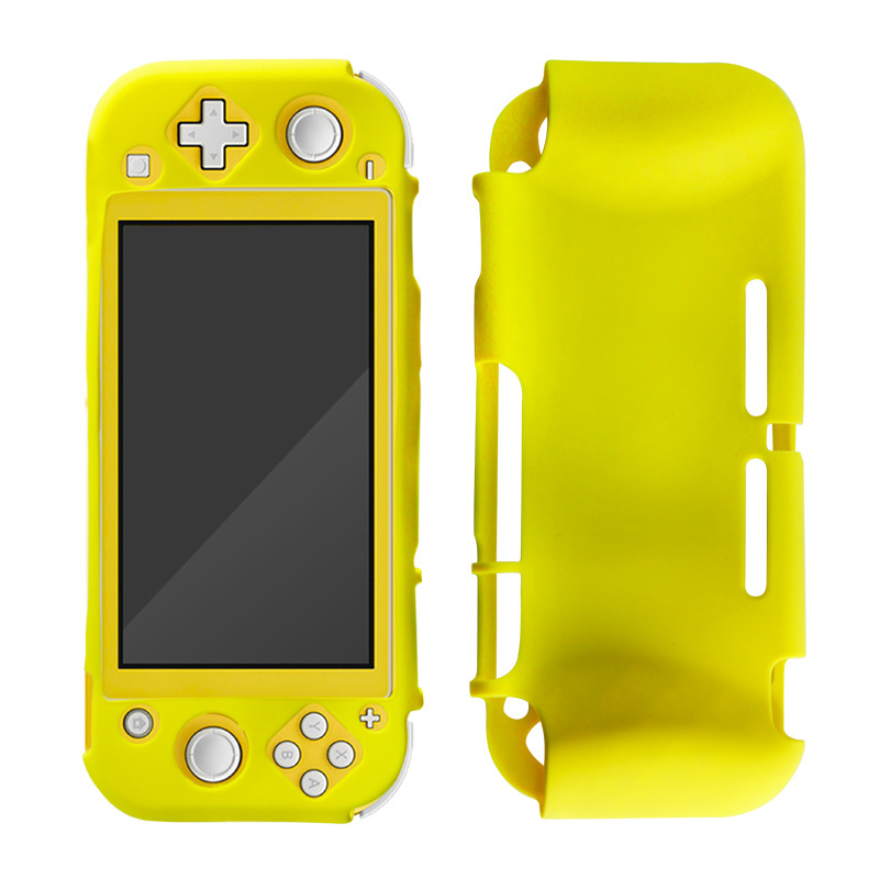 Silicone Case Cover for Nintendo Switch Lite - Beschermhoes Geel