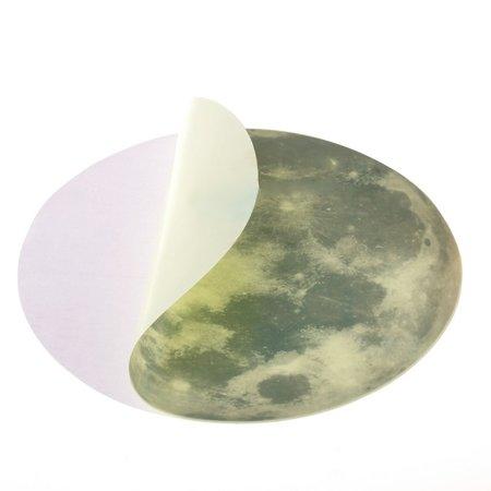 Wandaufkleber Glow In The Dark Moon 20 cm