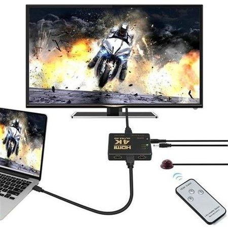 Geeek HDMI Switch 3 Port mit Fernbedienung Ultra HD 4K 3D