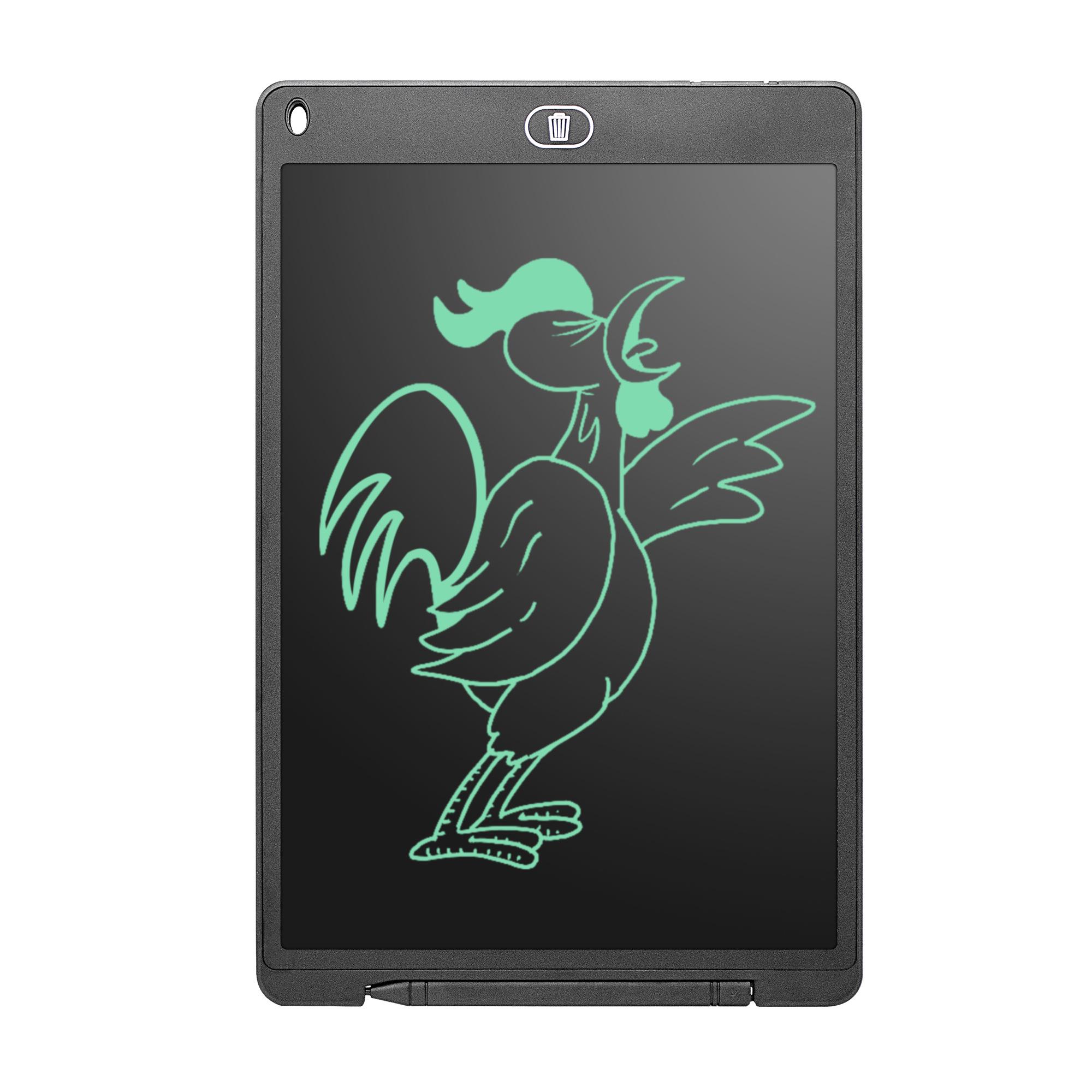 Elektronische LCD tekentablet / digitale memoblok 12 inch Zwart