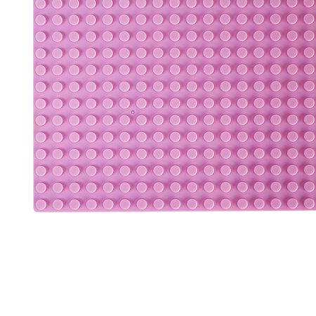 Geeek Große Grundplatte Bauplatte für Lego Bausteine Rosa 50 x 50