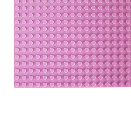 Geeek Large Baseplate Construction plate for Lego Building Blocks Pink 50 x 50