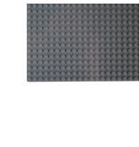 Geeek Große Grundplatte Bauplatte für Lego Bausteine Dunkel Grau 50 x 50