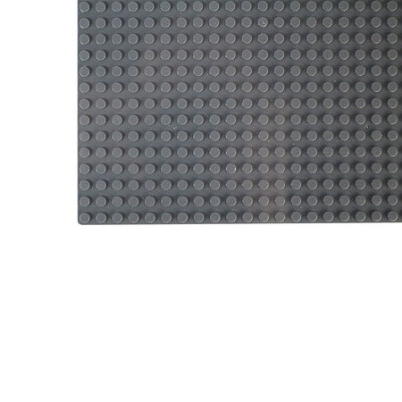 Geeek Large Baseplate Construction plate for Lego Building Blocks Dark Grey 50 x 50