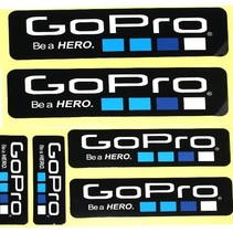 Be a Hero Stickers 6 pack voor GoPro