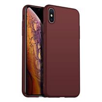 Rückseite Hülle Abdeckung iPhone X / Xs Hülle Burgundy Rot