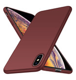 Geeek Rückseite Hülle Abdeckung iPhone X / Xs Hülle Burgundy Rot