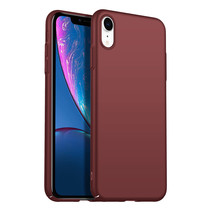 Rückseite Hülle Abdeckung iPhone Xr Hülle Burgundy Rot