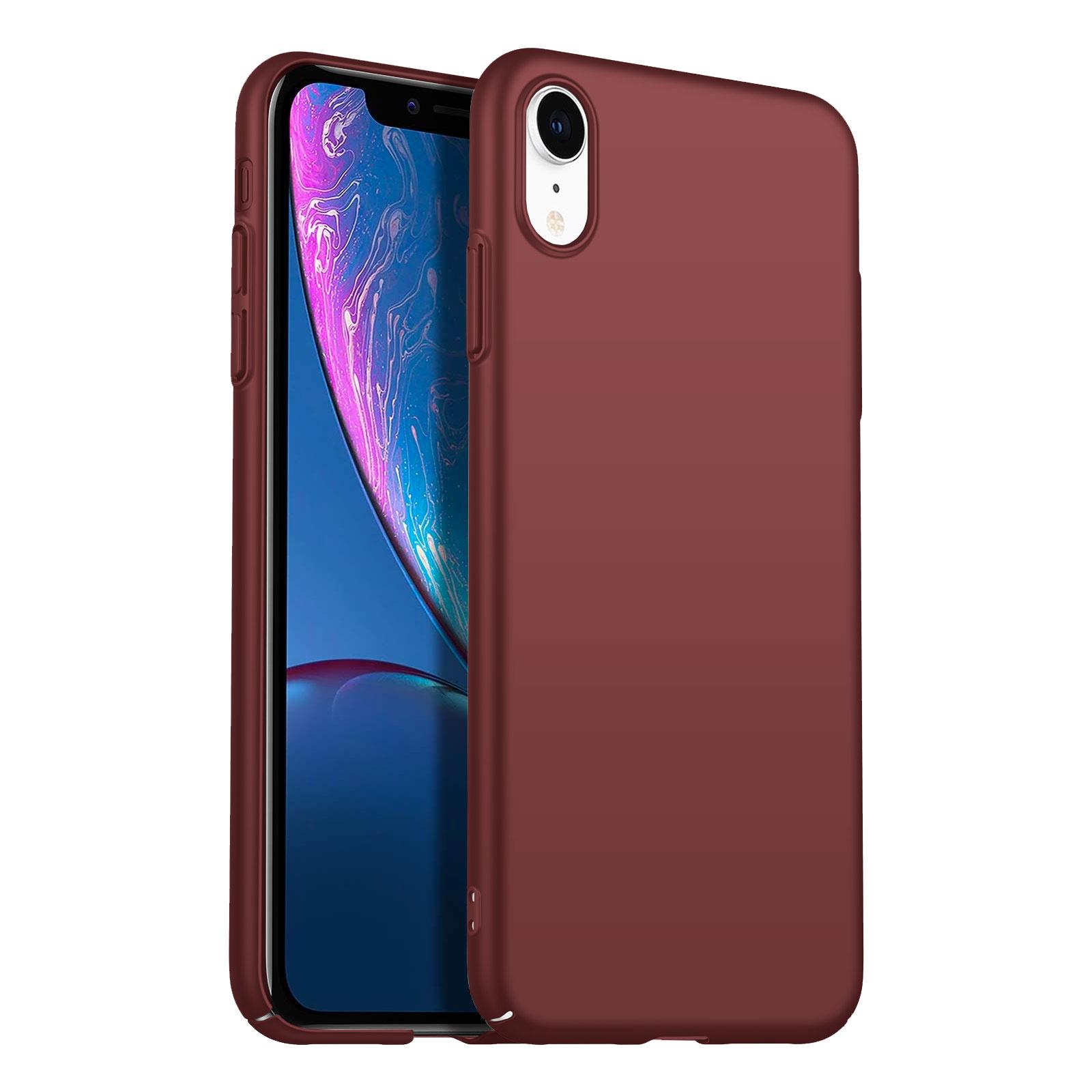 Geef je apple iphone xr moeiteloos een strak en verzorgd uiterlijk met dit mooie matte hoesje in burgundy ...