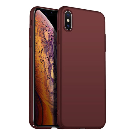 Geeek Back Case Cover iPhone Xs Max Hoesje Burgundy