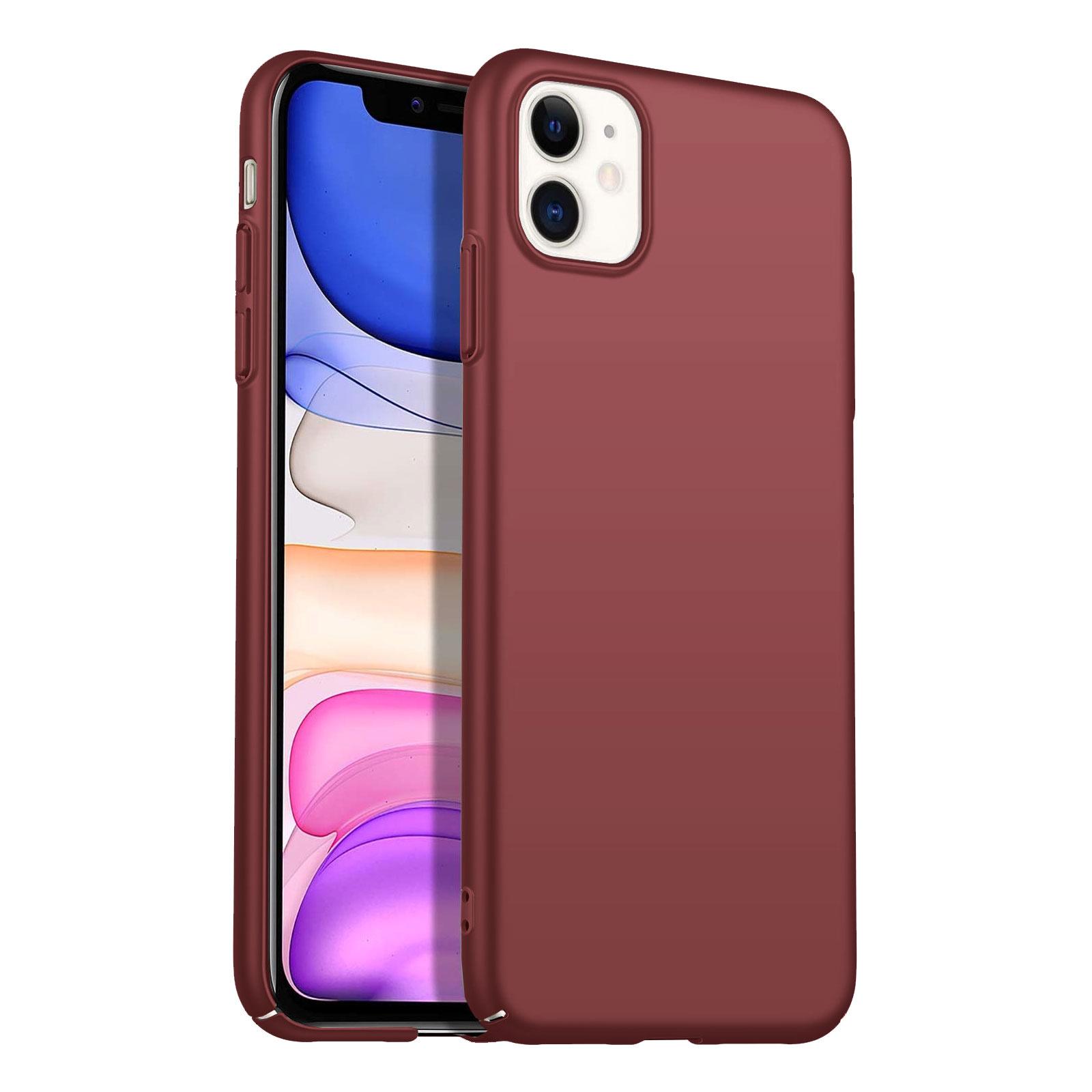 Geef je apple iphone 11 moeiteloos een strak en verzorgd uiterlijk met dit mooie matte hoesje in burgundy ...