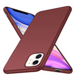 Geeek Back Case Cover iPhone 11 Case Burgundy Red