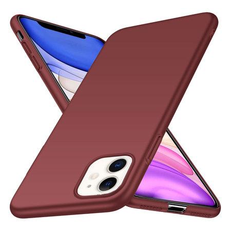 Geeek Rückseite Hülle Abdeckung iPhone 11 Hülle Burgundy Rot