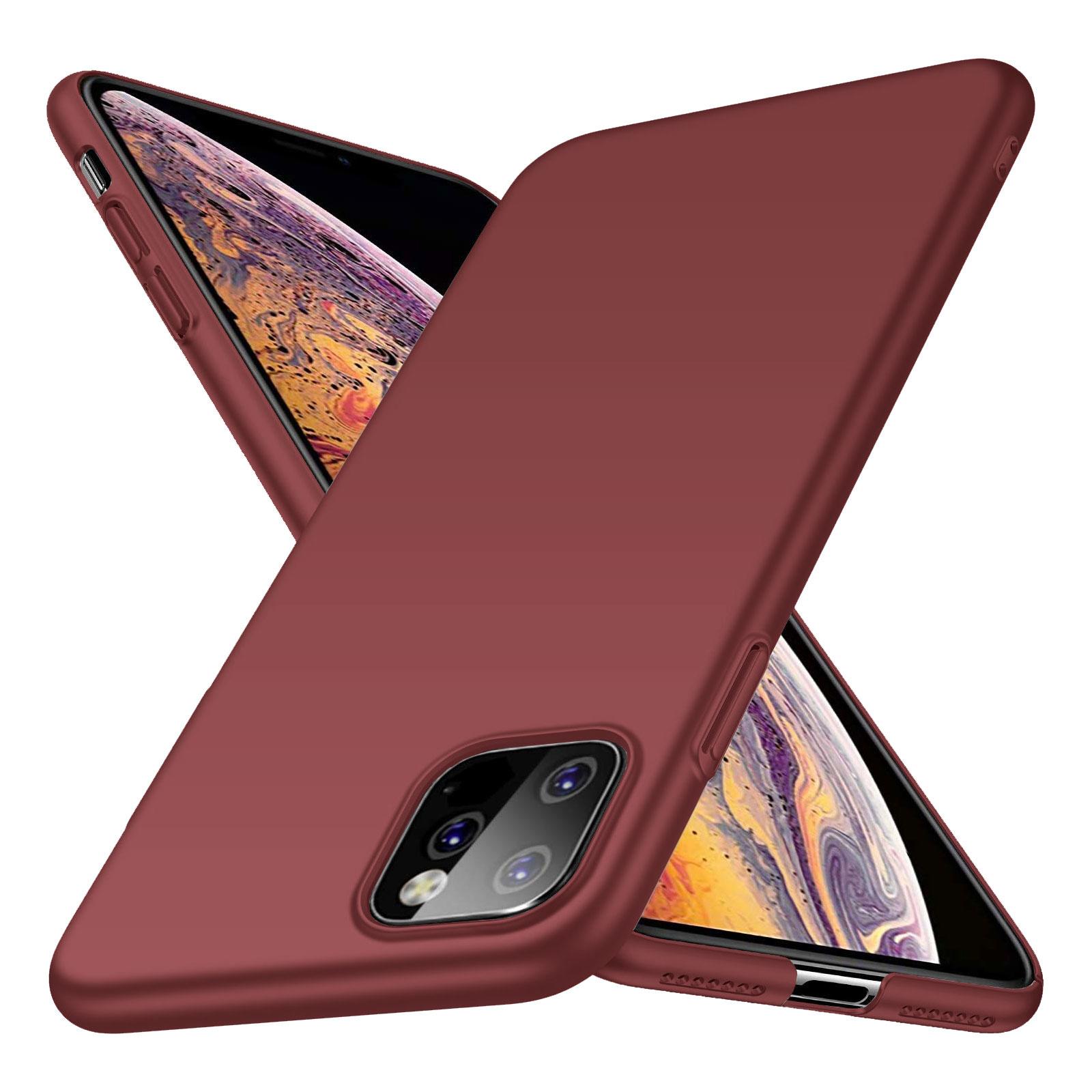 Geef je apple iphone 11 pro moeiteloos een strak en verzorgd uiterlijk met dit mooie matte hoesje in burgundy ...