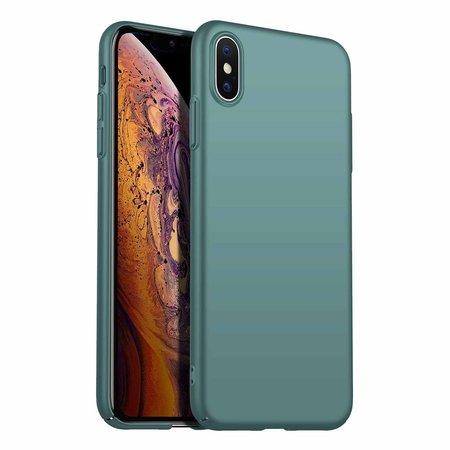 Geeek Rückseite Hülle Abdeckung iPhone X / Xs Hülle Grey Blue