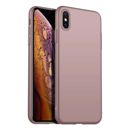 Geeek Back Case Cover iPhone Xs Max Case Burgundy Pink Powder