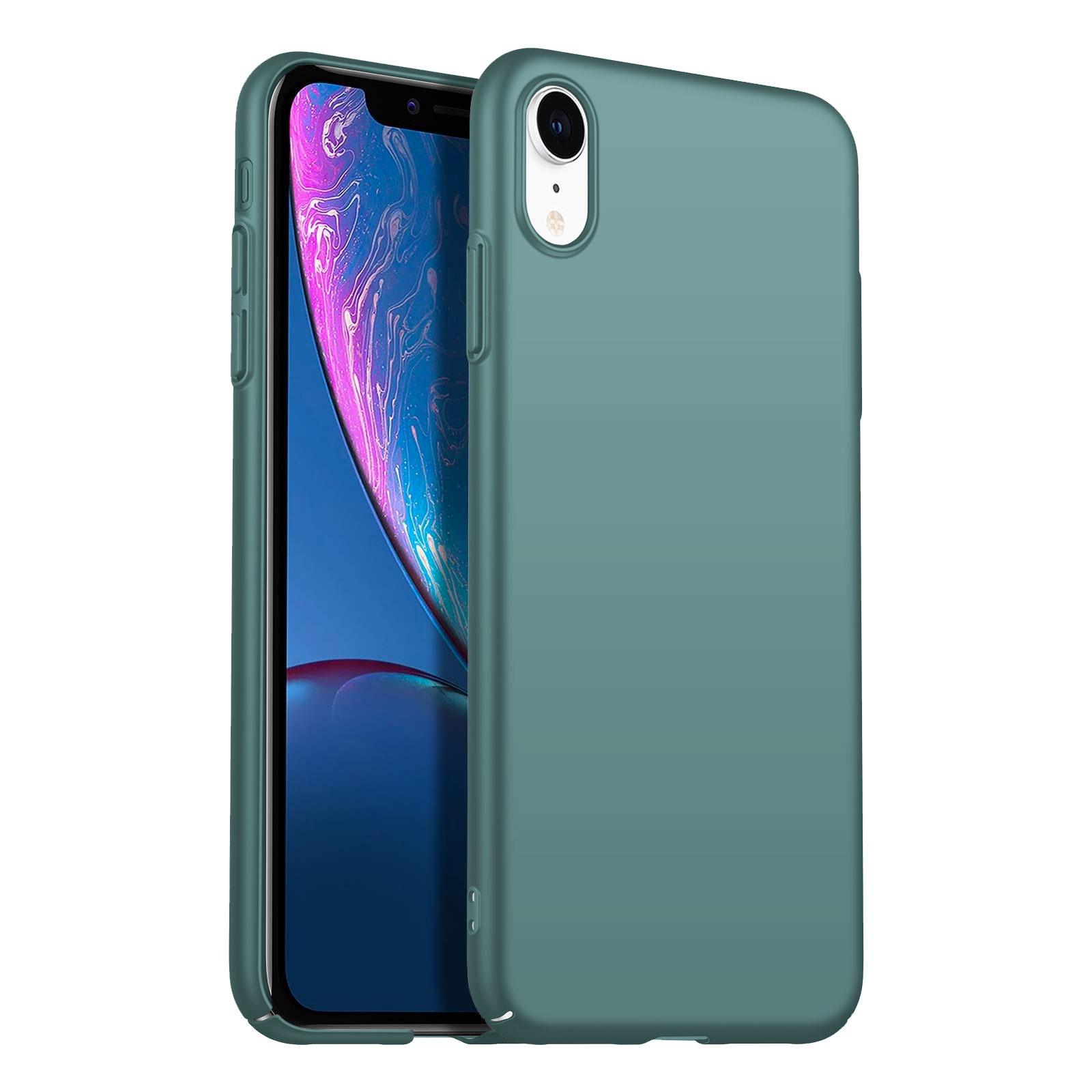 Geef je apple iphone xr moeiteloos een strak en verzorgd uiterlijk met dit mooie matte hoesje in grey blue!de ...