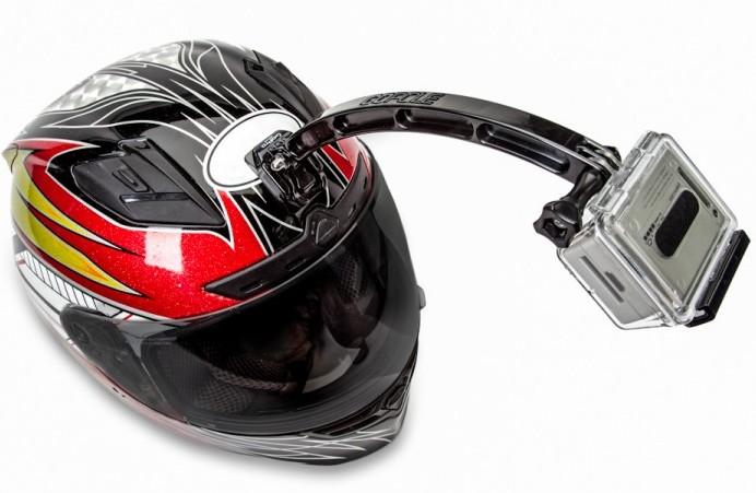 Met deze gopro helm extensie kun je leuke selfie opnames maken terwijl je fietst, skiet of snowboard. de ...
