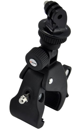 Bevestig je gopro hero met de fietshouder aan het frame van de fiets om de actie voor of achter je te filmen....