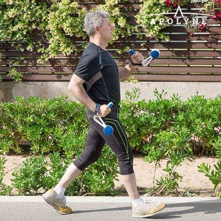 Apolyne Walk & Weight Weight Cuffs mit Griffen (2er Pack) - Home Fitness