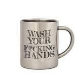 COVID 19 -Handen Wassen Instructie Mok - Metal - Anti-Coronavirus Mok